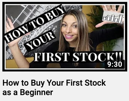 """*FIRST STOCK""""  9:30  How to Buy Your First Stock  as a Beginner"""