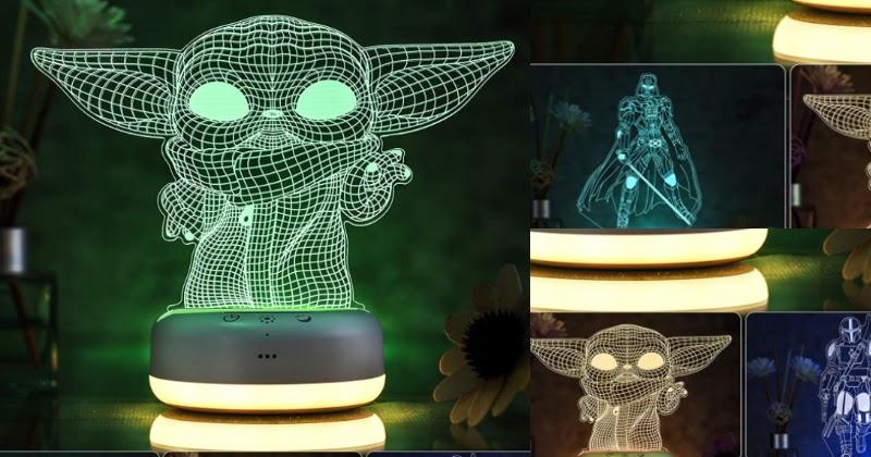 Dāvanas Star Wars faniem lampa