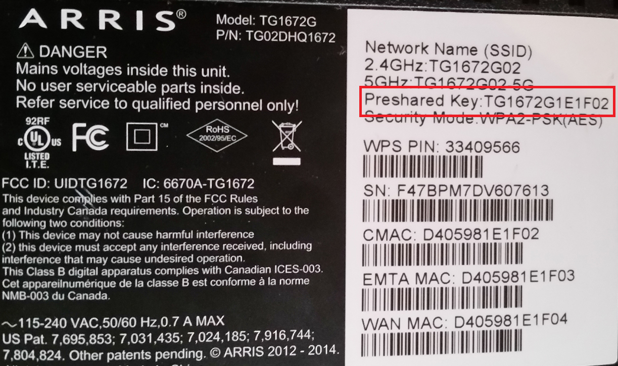 example of router settings data