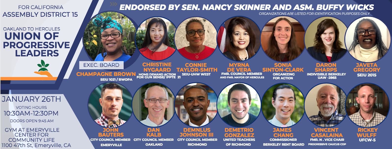 Support AD 15 Delegate Slate