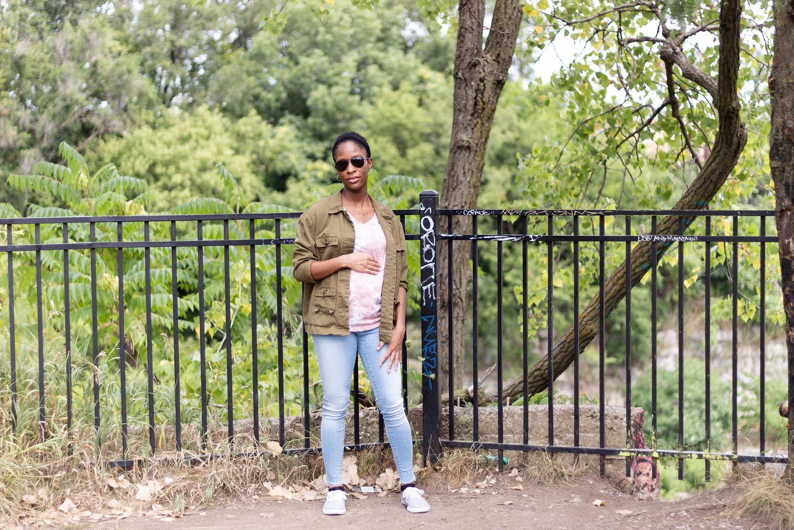 Green Utility Jacket - Patience & Pearls