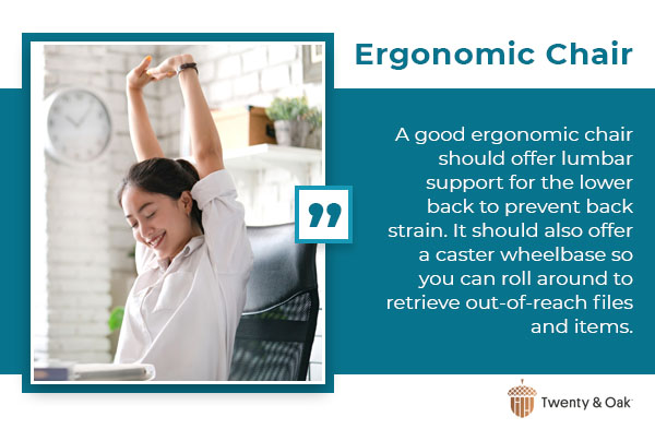 ergonomic chair graphic