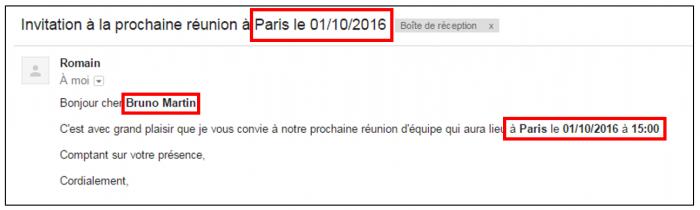 Exemple de mail reçu par un destinataire