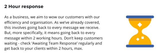 Wyzowl 2 hour response time