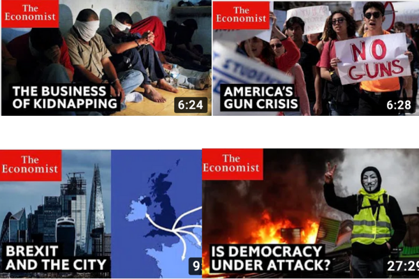 The economist YouTube Channel
