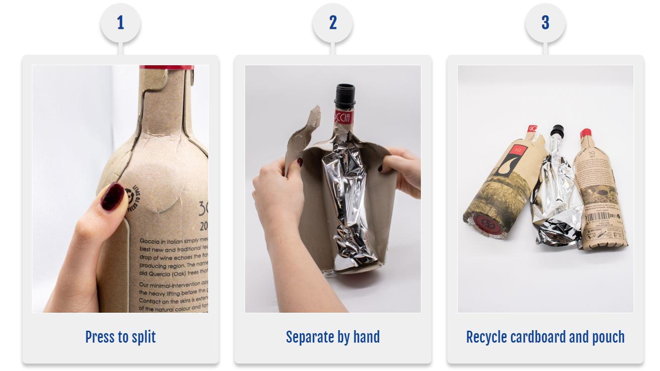 butelki papierowe, papierowe butelki - Frugalpac