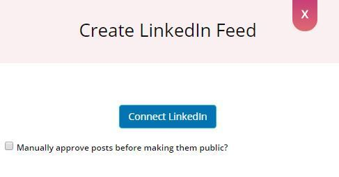 Create LinkedIn Feed