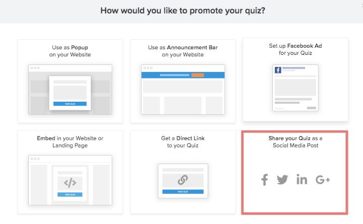 how to share quiz in social media post