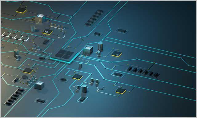 (Zdjęcie zaawansowanej technologicznie płytki PCB)