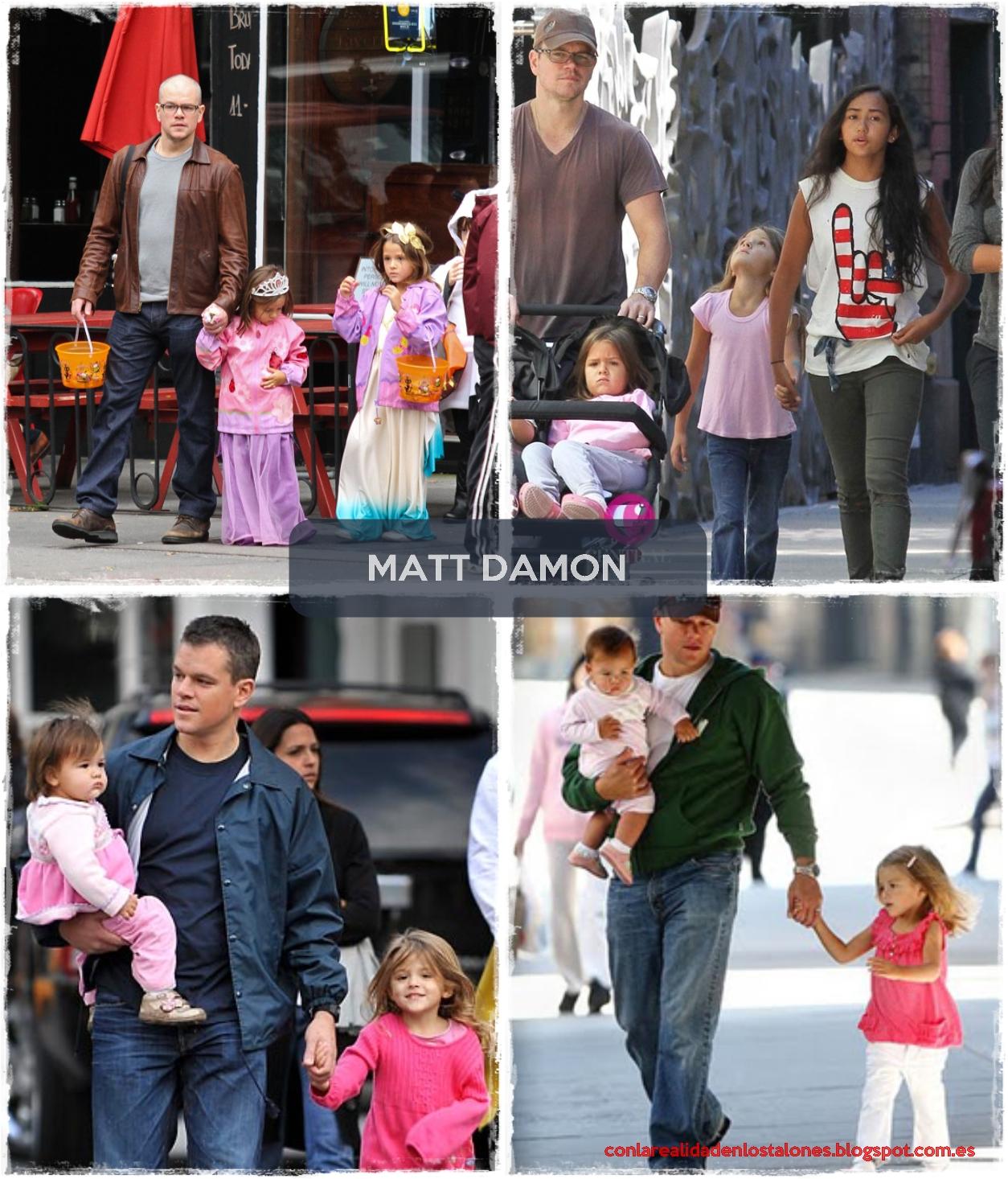 Matt Damon y sus cuatro hijas