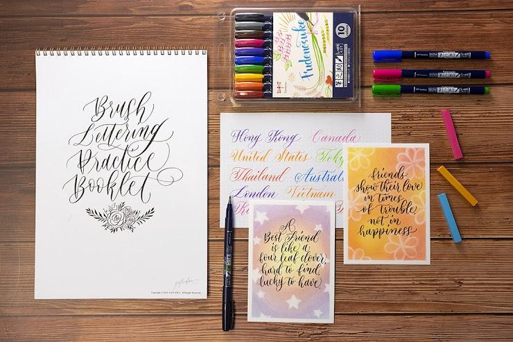 Brush Lettering for Kids