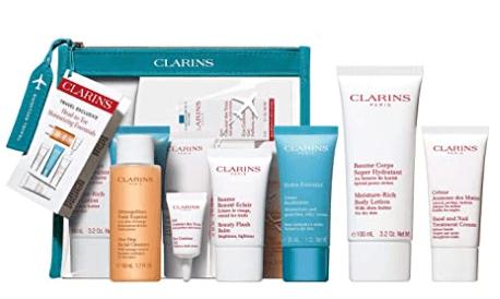 Clarins essential travel kit skincare