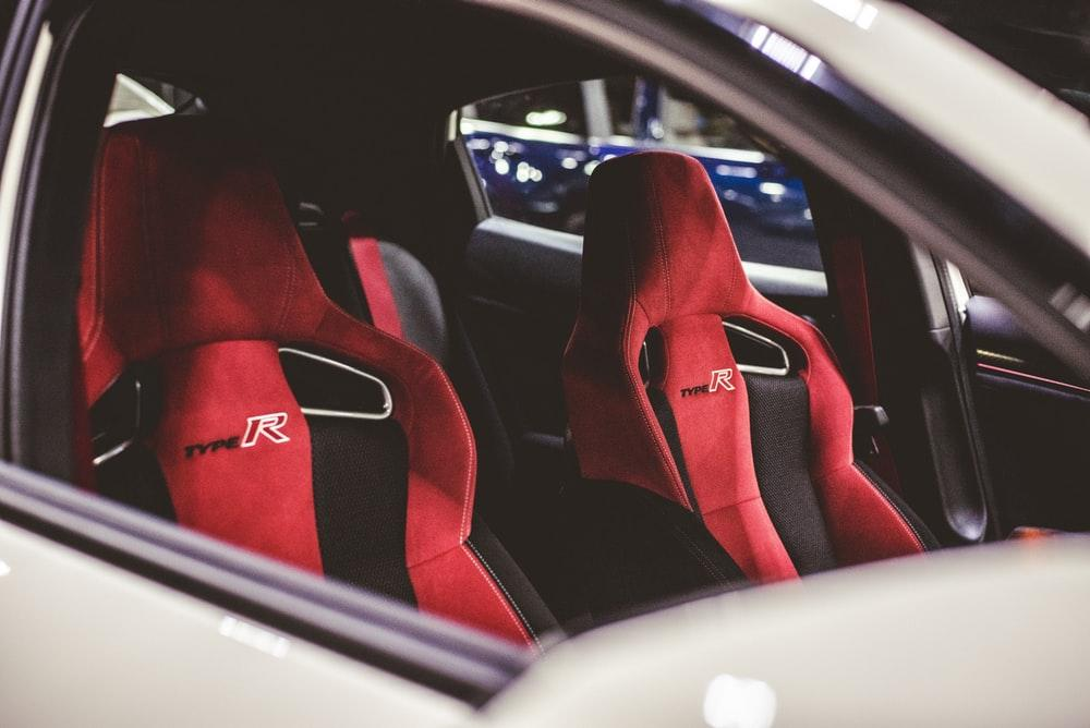 red-and-black vehicle seat covers