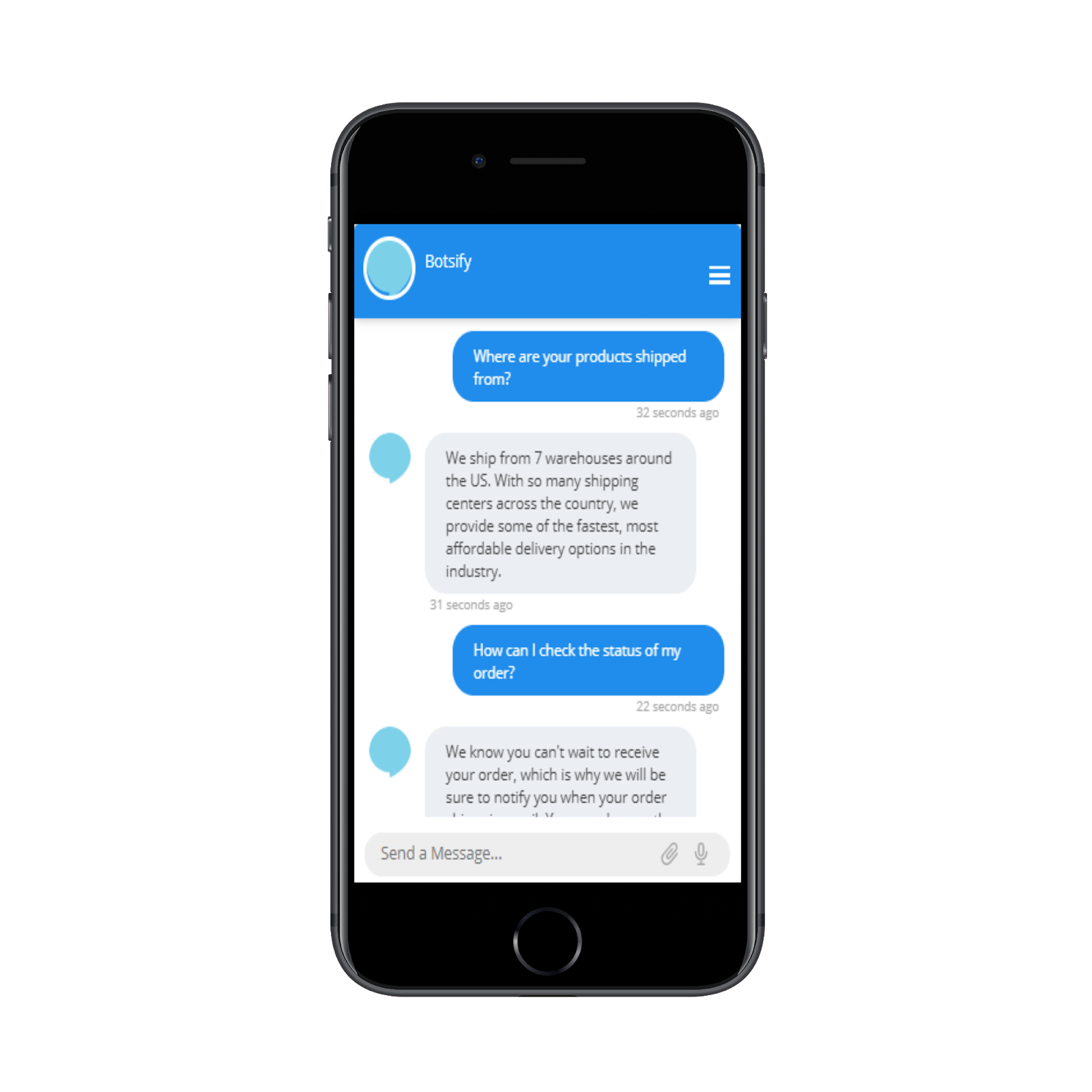 FAQ chatbot for Online clothing store