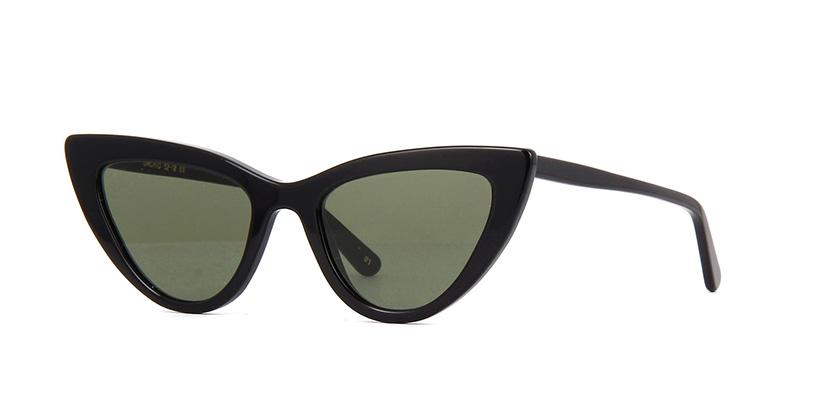 L.G.R Orchid 01 Black Flat Green Sunglasses | Pretavoir