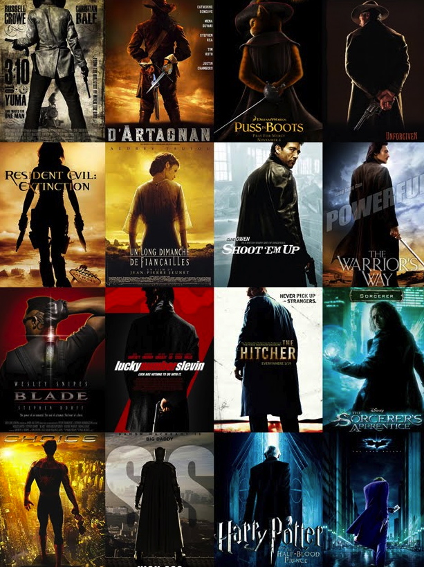 dark colored movie posters