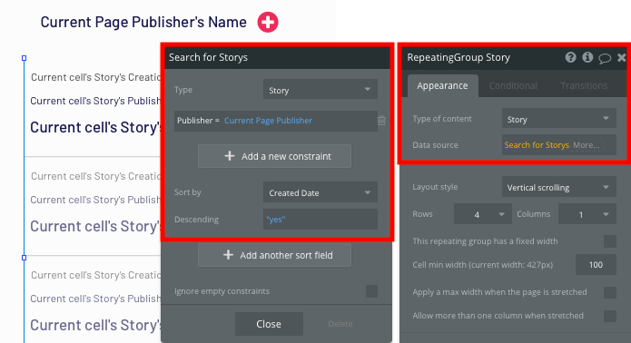 Bubble News Aggregator Publisher Page Content Tutorial