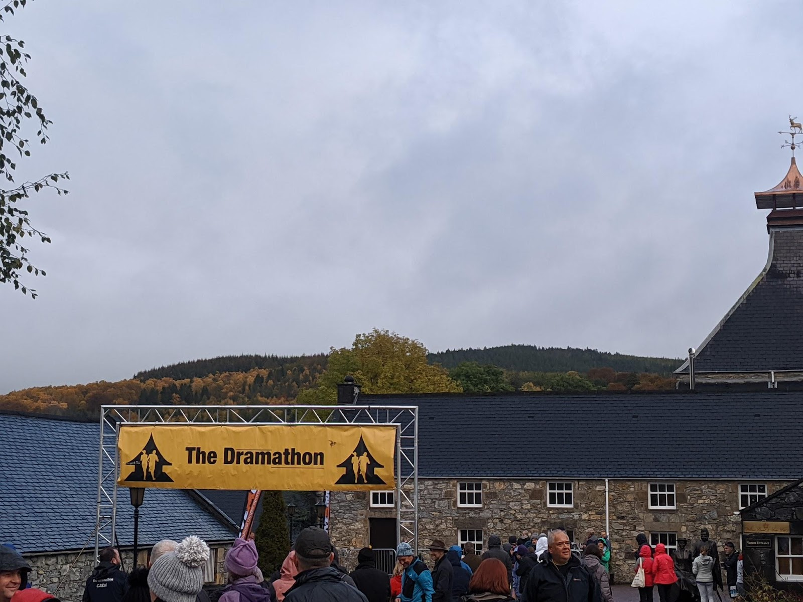 The Dramathon finish line