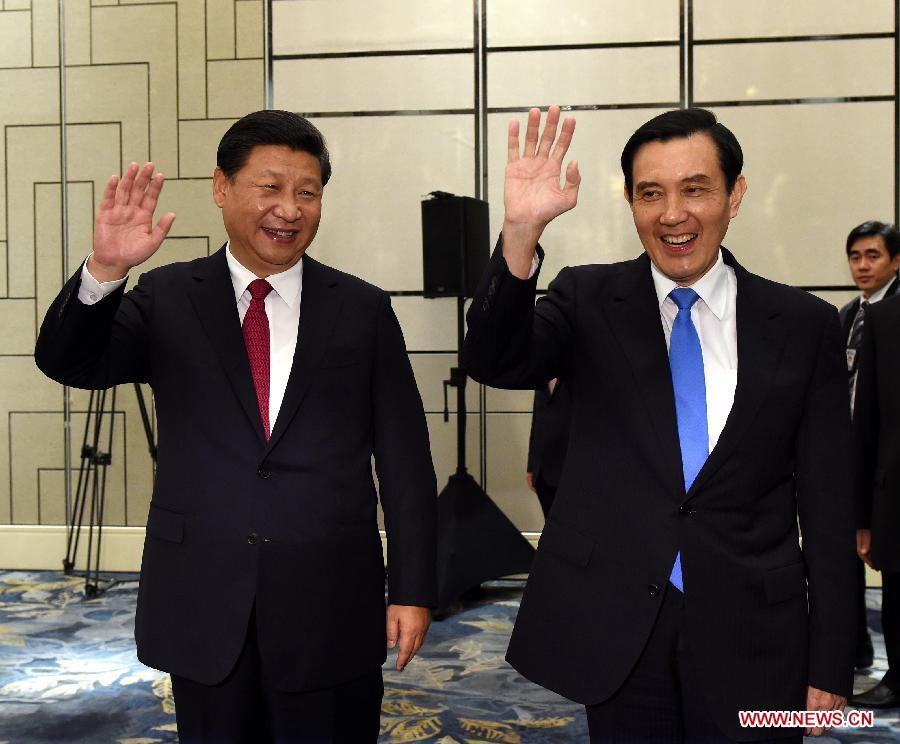 Xi, Ma hold historic talks in Singapore
