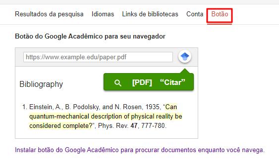 instalar extensão do google acadêmico no chrome