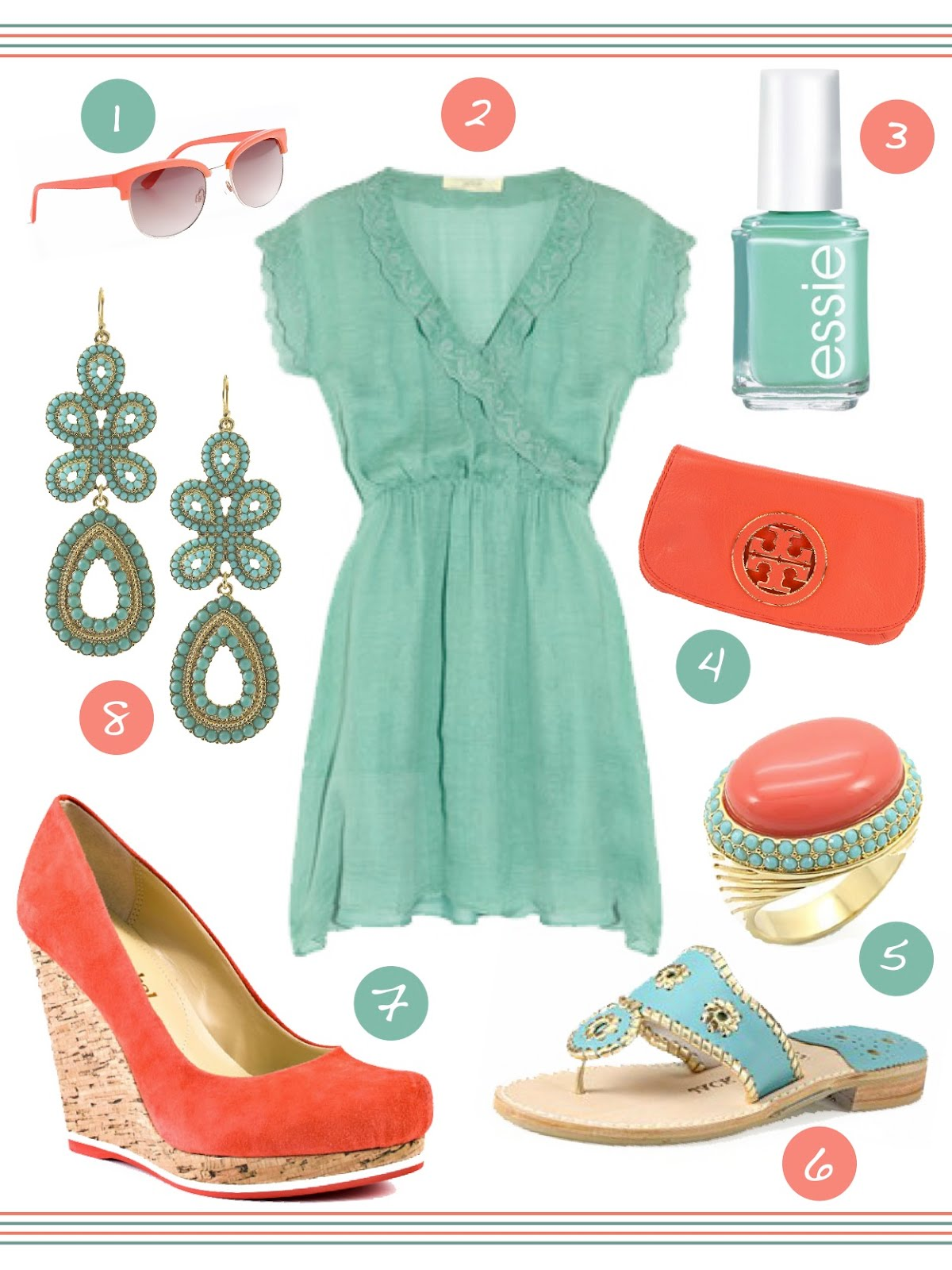 Spring Trend Alert Turquoise Amp Coral Her Campus