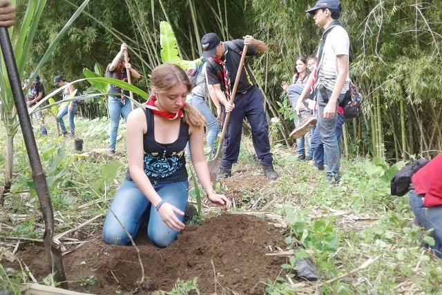 250 árboles fueron sembrados en el ecoparque La Secreta