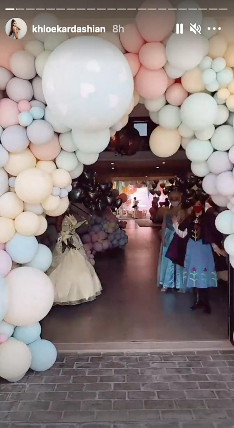 Inside True Thompson's Third Birthday Party, with Disney Princesses, Bounce  House | PEOPLE.com