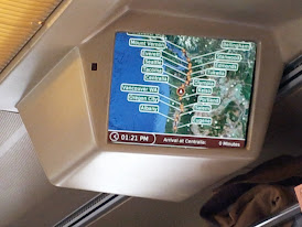 TV monitors show you your trip progress