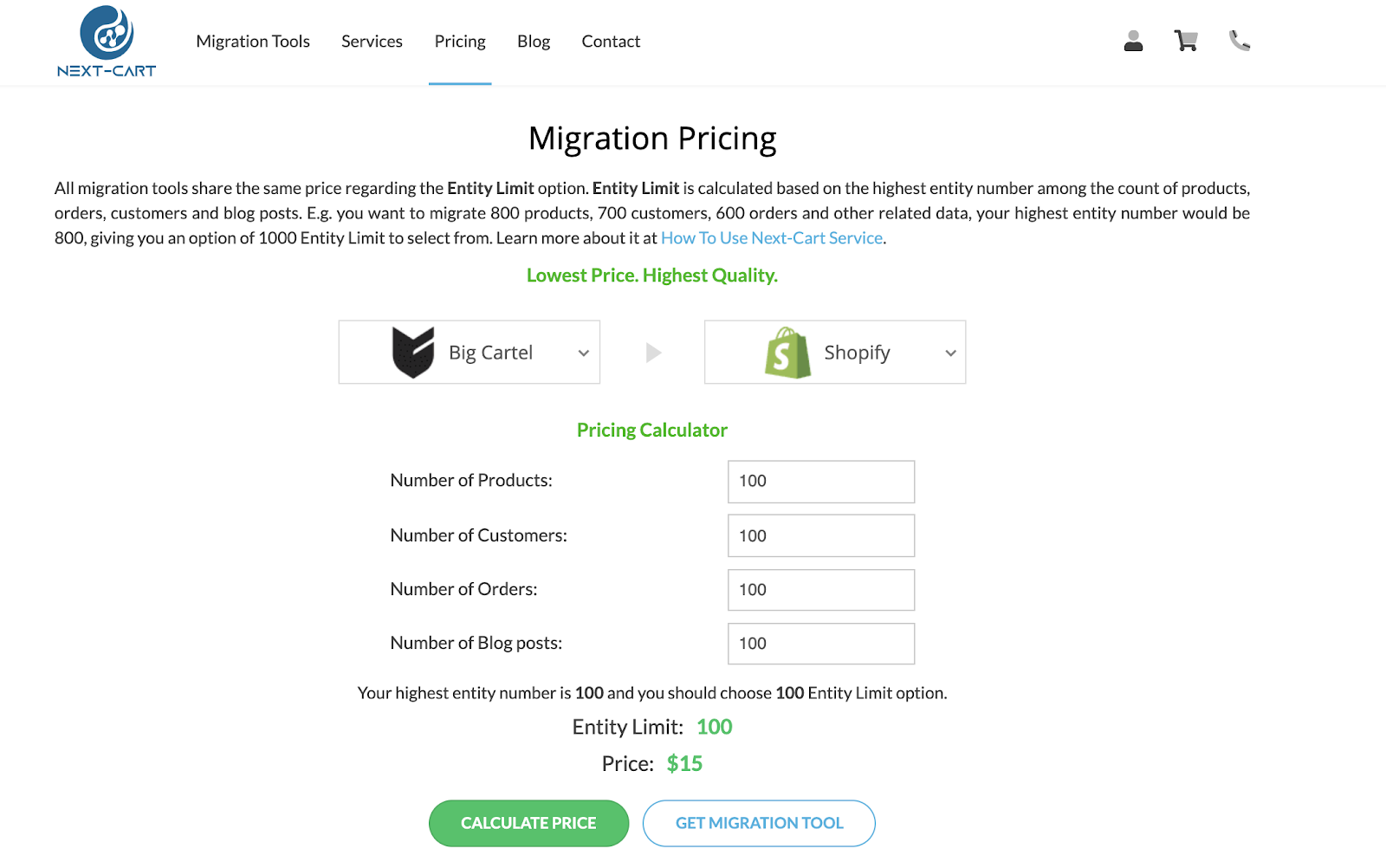 migrate store pricing from next-cart