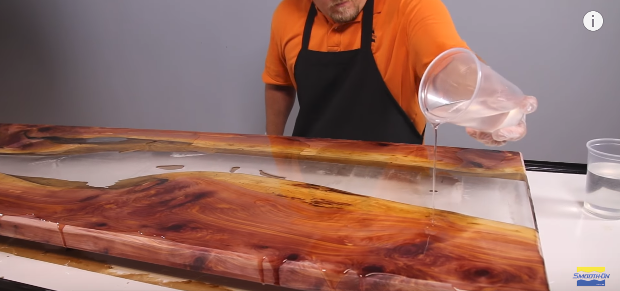 How To Make A River Table Using Clear Epoxy Resin And