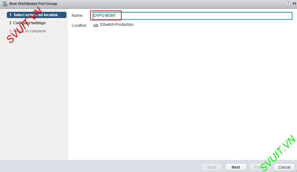 create vSphere Distributed port group (2)