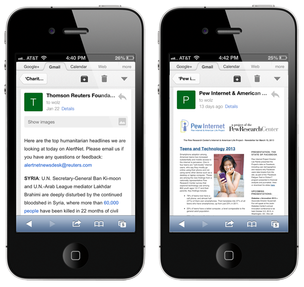 Mobile Optimized Email Newsletter