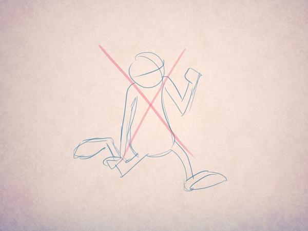 Пример неправильного использования кривой движения - линия не вписывается в контекст нужным образом.