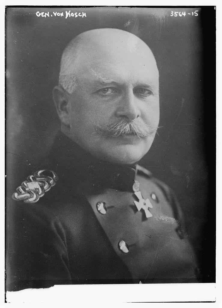Генерал Роберт фон Кош. У складі 12-го корпусу австро-угорських сил генерала Р. Брауна перебував німецький корпус генерала Роберта фон Коша із групи військ генерала Августа фон Макензена.