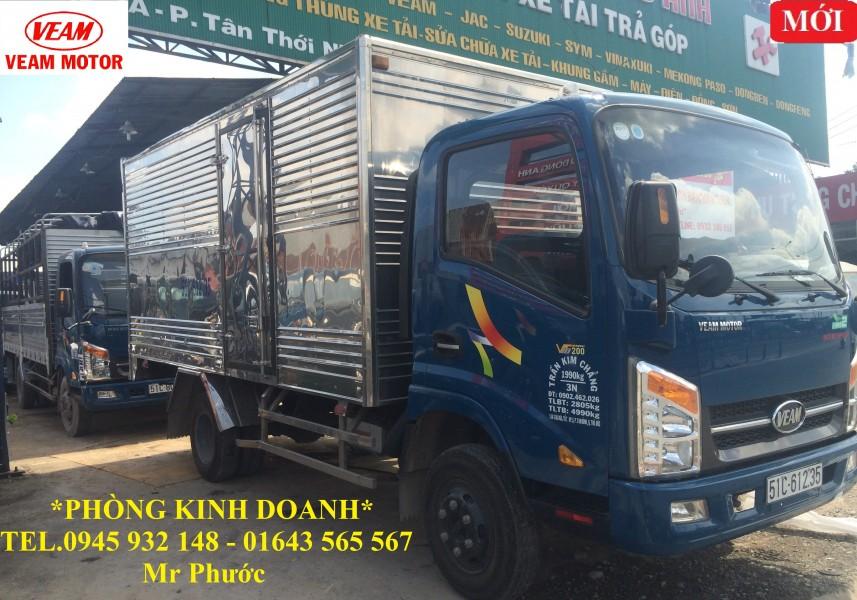 xe tải VEAM 2 tấn, xe VEAM VT200 2 tấn thùng dài 4m3, xe tải VEAM VT200 2T thùng kín 2016
