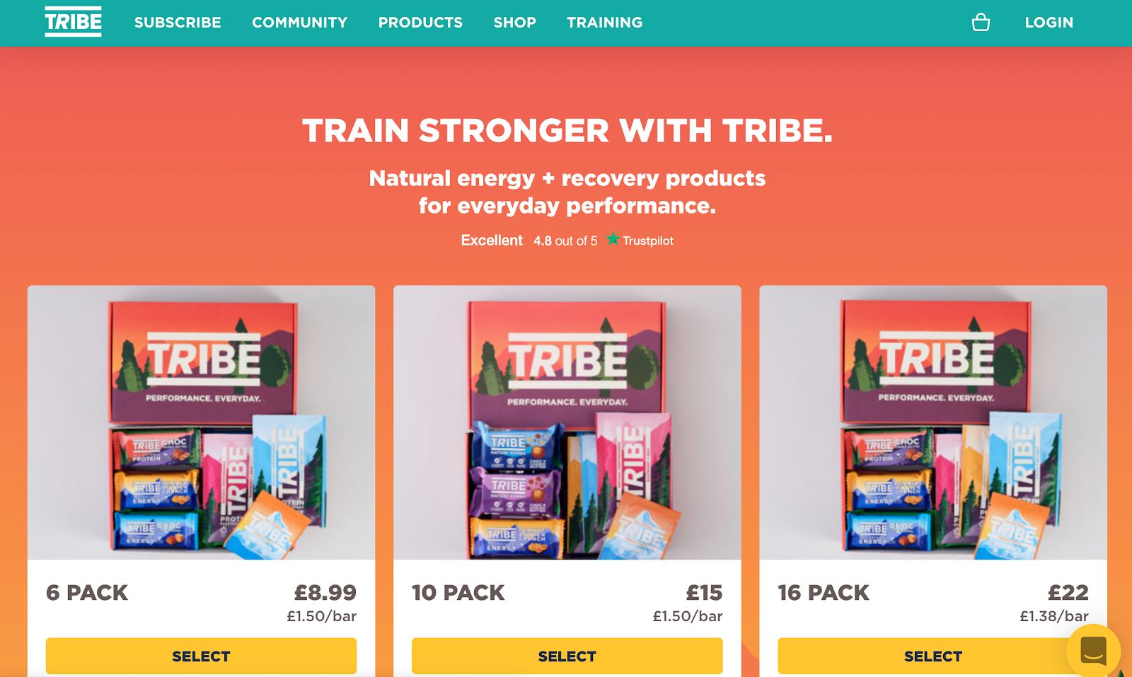 Tribe landing page