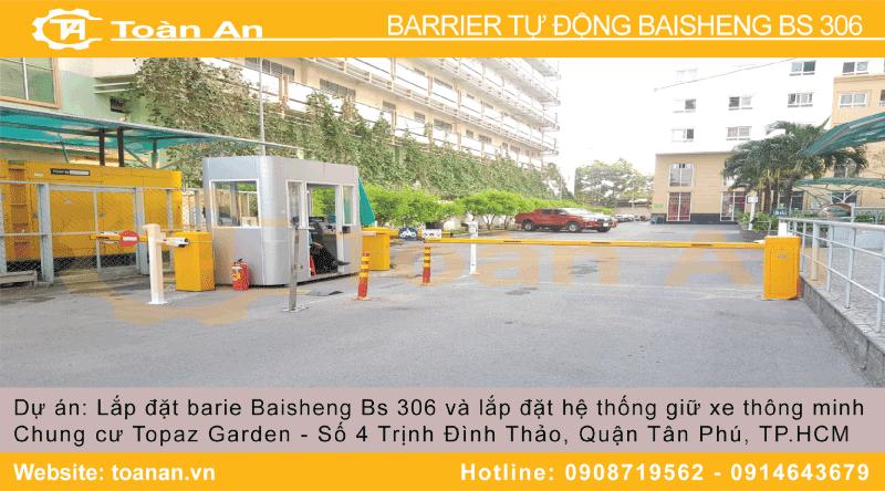 Lắp đặt barrier tự động baisheng bs 306 cho chung cư Topaz Garden