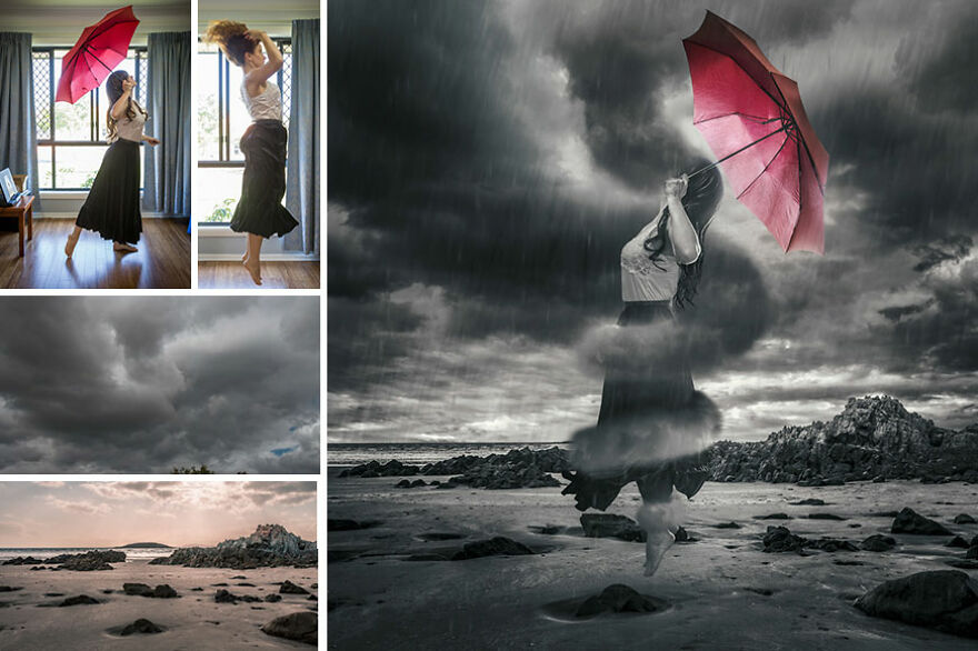 """""""Storm Clouds Gather"""" – Using Black And White With Selective Colour"""