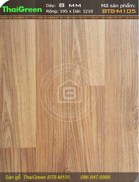 Miêu tả chi tiết sàn gỗ Thaigreen BT8 – M105  của Nội Thất Bảo Châu