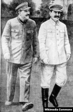 Иосиф Сталин и Лазарь Каганович