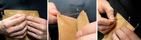 آموزش درست کردن کیف پول چرمی دستساز - مرحله ۷