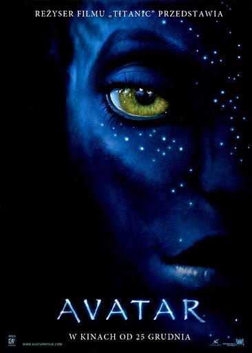 Przód ulotki filmu 'Avatar'