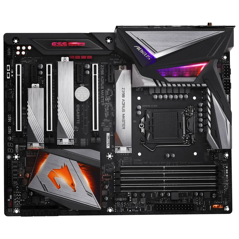 best Motherboard for i9 9900k,Gigabit Z390 AORUS MASTER