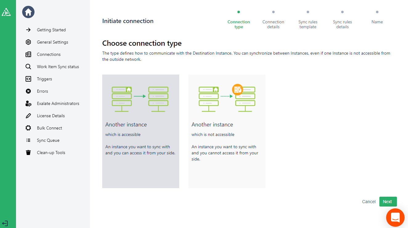 choose connection type for integrating azure devops and github
