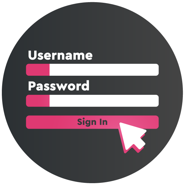 Username and password sign in