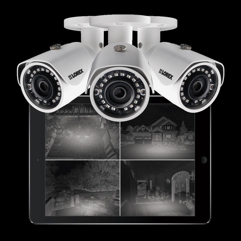 Long-range IR night vision