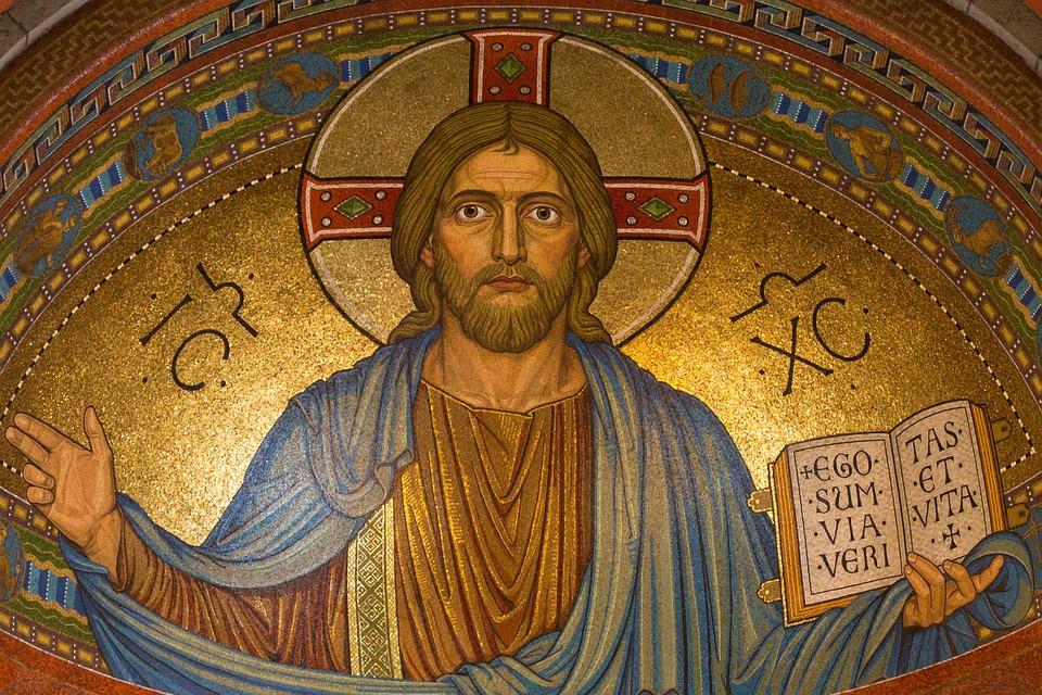 Kristus, Jeesus, Uskonto, Mosaiikki, Pääsiäinen, Kulta