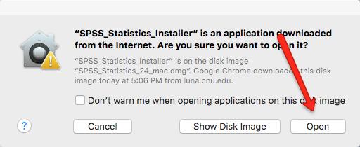 SPSS Installer Mac Open