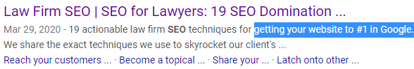 overselling seo