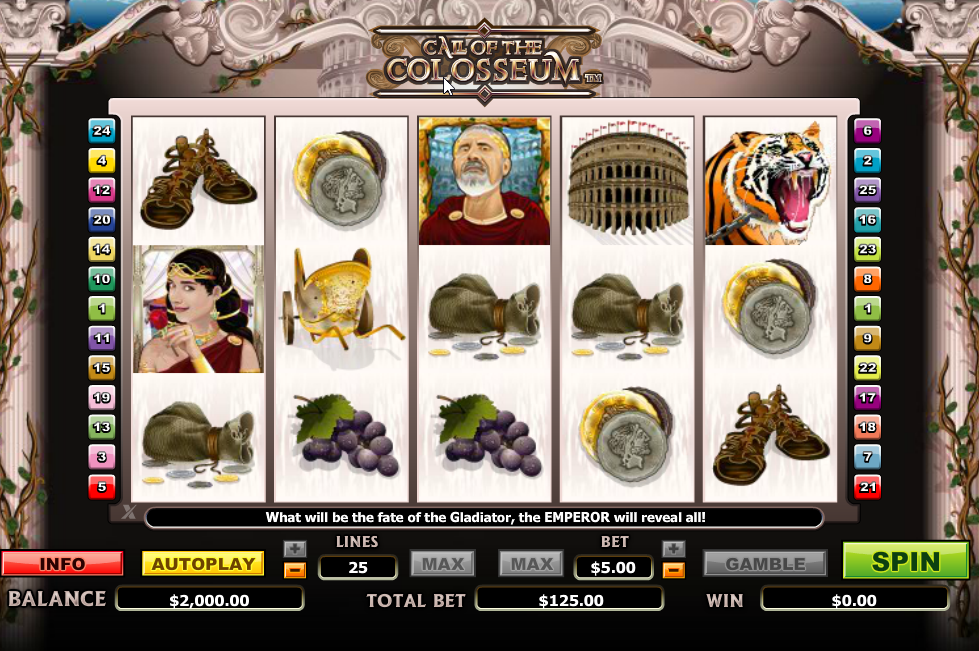 Play Call of Colosseum Slots Game today!